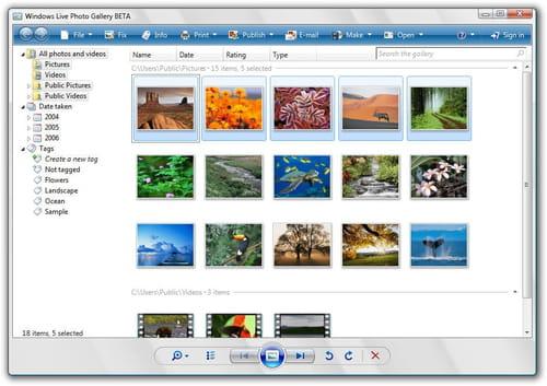 Windows Fotogalerie