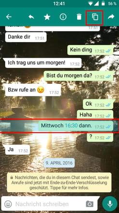 Nachrichten Bei Whatsapp Kopieren Und Einfügen Ccm