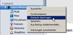 Iphone Mediathek Auf Itunes Ubertragen