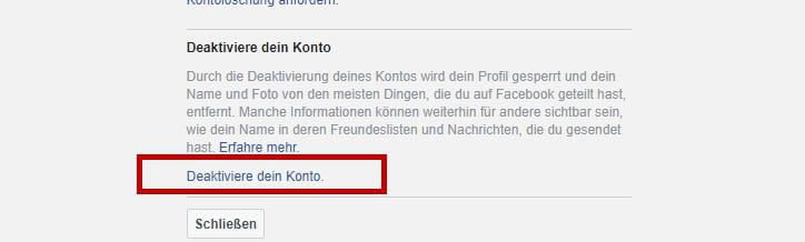 Facebook-Konto löschen - CCM