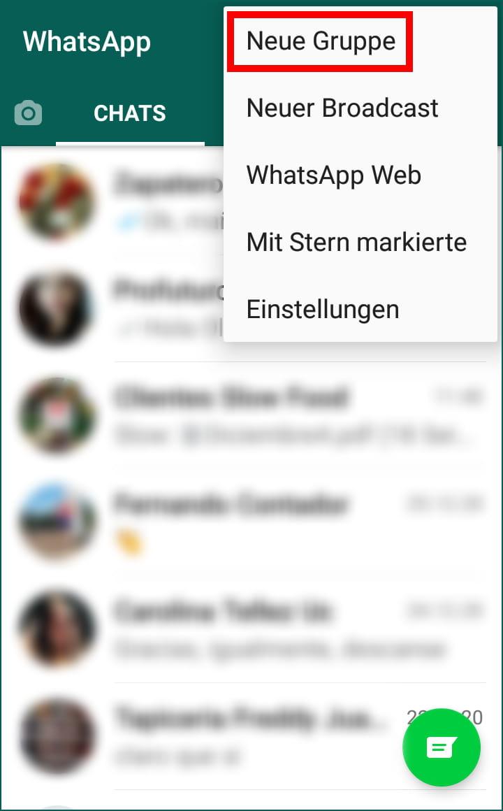 Schreiben whatsapp sich selbst WhatsApp führt