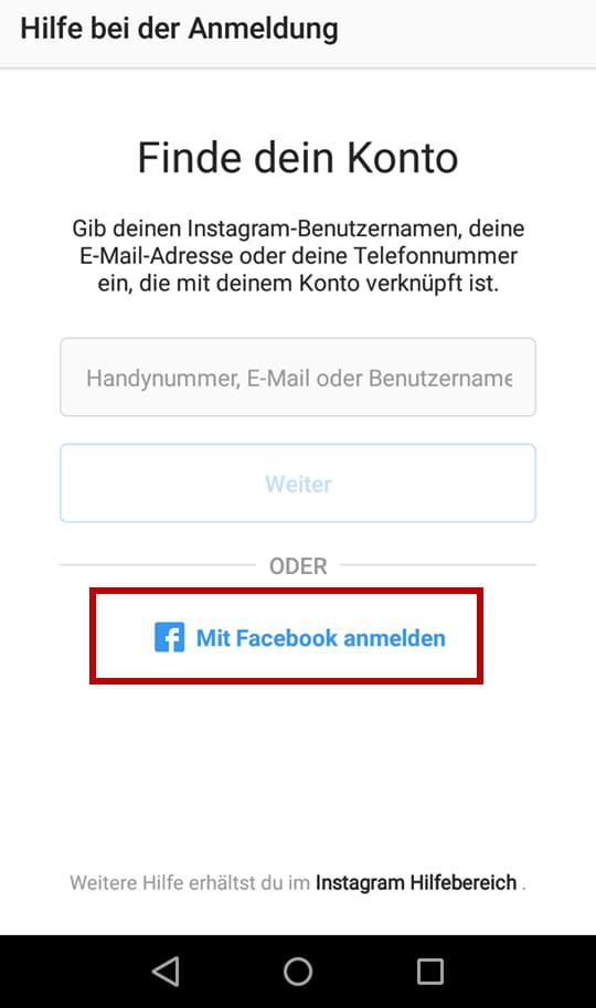 facebook anmelden mit passwort