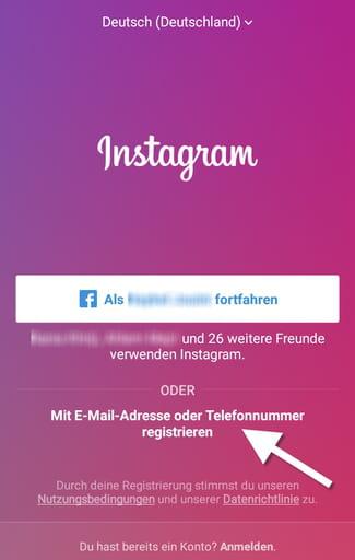Instagram Konto Bestätigen