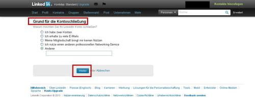 Linkedin Account Löschen linkedin profil löschen