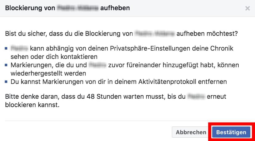 Passiert blockieren instagram person was Instagram Follower