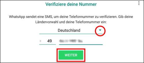 Telefonnummer In Whatsapp Eingeben