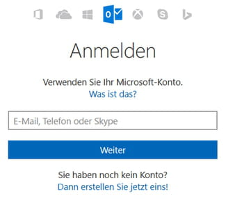 hotmail email anmelden