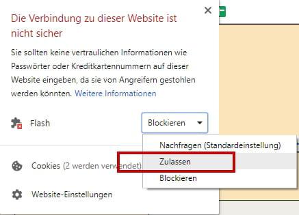 Flash ZulaГџen Chrome