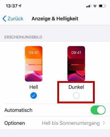 Instagram Dunkel Stellen