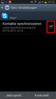 k9 synchronisation deaktiviert