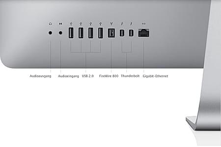 Welche Anschlüsse haben Macs?